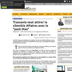"""Transavia veut attirer la clientèle Affaires avec le """"pack Max"""""""