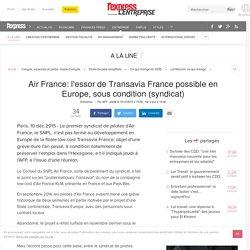 Air France: l'essor de Transavia France possible en Europe, sous condition (syndicat)