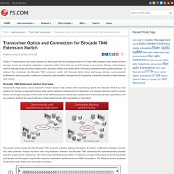 Transceiver Optics and Connection for Brocade 7840 Extension Switch - Blog of FS.COM