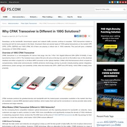 Why CPAK Transceiver is Different in 100G Solutions? - Blog of FS.COM