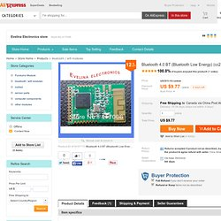 Buy Bluetooth 4.0 BT (Bluetooth Low Energy) (cc2541) Module from Reliable bluetooth transceiver module suppliers on Evelina Electronics store