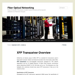 XFP Transceiver Overview