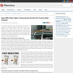 How Will Fiber Optic Transceivers Evolve for Future Data Centers