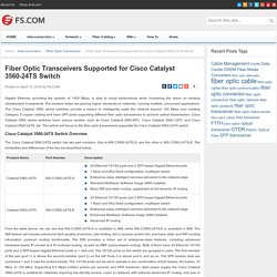 Fiber Optic Transceivers Supported for Cisco Catalyst 3560-24TS Switch - Blog of FS.COM