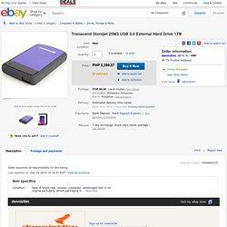 Transcend Storejet 25M3 USB 3 0 External Hard Drive 1TB