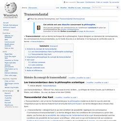 Transcendantal