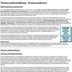 Transcendantalisme, Transcendance