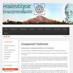 Maïeutique Transcendante - Enseignement Traditionnel - Indications sur le rattachement traditionnel de la Maïeutique