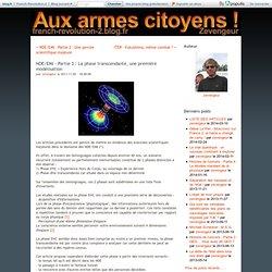 3 NDE/EMI 02/11/11 phase transcendante, une première modélisation SITE Aux armes citoyens !