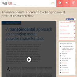 Study of Atomic Parameters of Metal Powders