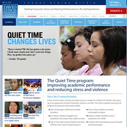 Quiet Time with Transcendental Meditation in Schools
