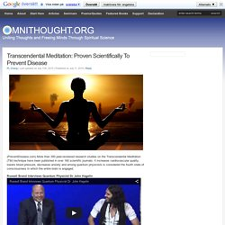 Transcendental Meditation: Proven To Prevent Disease