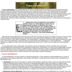 transcendentalist movement discussion essay American essayist, lecturer, and poet ralph waldo emerson initiated and led the transcendentalist movement of the mid-19th century.