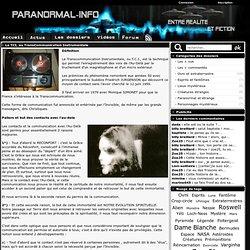 La TCI, ou TransCommunication Instrumentale