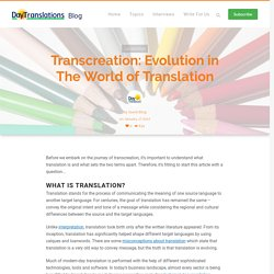 Transcreation is an Evolution in The World of Translation