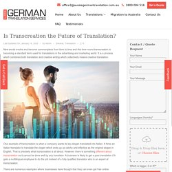 Is Transcreation the Future of Translation?