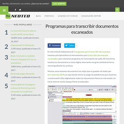 Programas para transcribir documentos escaneados