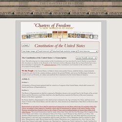 Transcript of the Constitution of the United States - Official Text