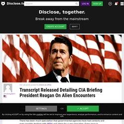 Transcript Released Detailing CIA Briefing President Reagan On Alien Encounters