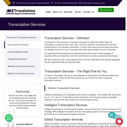 Transcription Services in California, USA