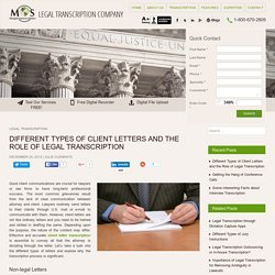 Transcription of Different Types of Client Letters