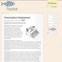 Transcription Employment