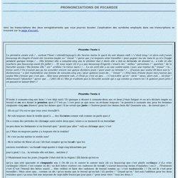 Picardie: transcription des enregistrements