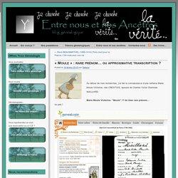 """""""Moule"""" : rare prénom ou erreur de transcription ?"""