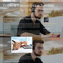 Importance of Academic Transcription in Education