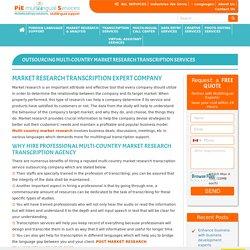 post market research transcription project