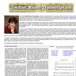 Music Transcription Service by John Zechiel - I Will Transcribe Your Recording Into Sheet Music