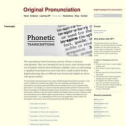 Original Pronunciation