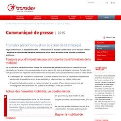 Transdev place l'innovation au cœur de sa stratégie