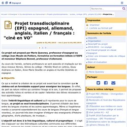 """Projet transdisciplinaire (EPI) espagnol, allemand, anglais, italien / français : """"ciné en VO"""" - Espagnol"""
