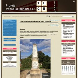 Créer une image interactive avec Thinglink - Projets Transdisciplinaires et TICE - DSDEN 79