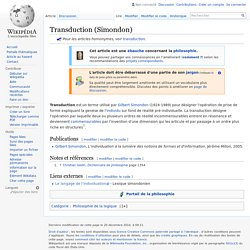 Transduction (Simondon)