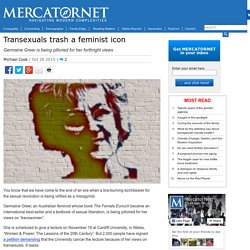 Transexuals trash a feminist icon