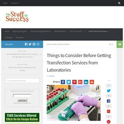 Things to Consider Before Getting Transfection Services from Laboratories