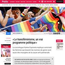 «Le transféminisme, un vrai programme politique» par Chloé Dubois