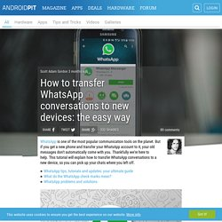 How to transfer WhatsApp conversations to new devices: the easy way
