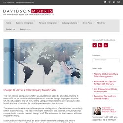 Changes to UK Tier 2 (Intra-Company Transfer) Visa - DavidsonMorris