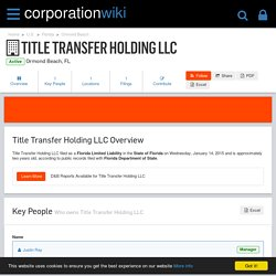 Title Transfer Holding