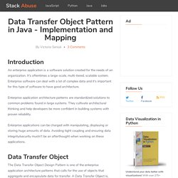 Data Transfer Object Pattern in Java - Implementation and Mapping