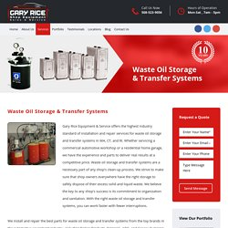The Best Waste Oil Storage and Transfer Systems Providers in MA