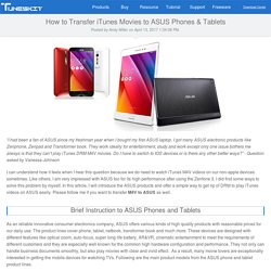 How to Transfer iTunes Movies to ASUS Phones & Tablets
