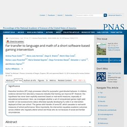 Far transfer to language and math of a short software-based gaming intervention