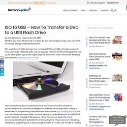 How To Transfer a DVD to a USB Flash Drive