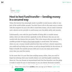 Host to host fund transfer — Sending money in a secured way – Medium
