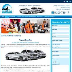 Airport Transfer Services Gold Coast, Brisbane