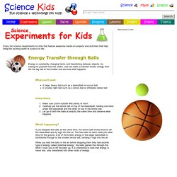 Energy transfer through bouncing balls